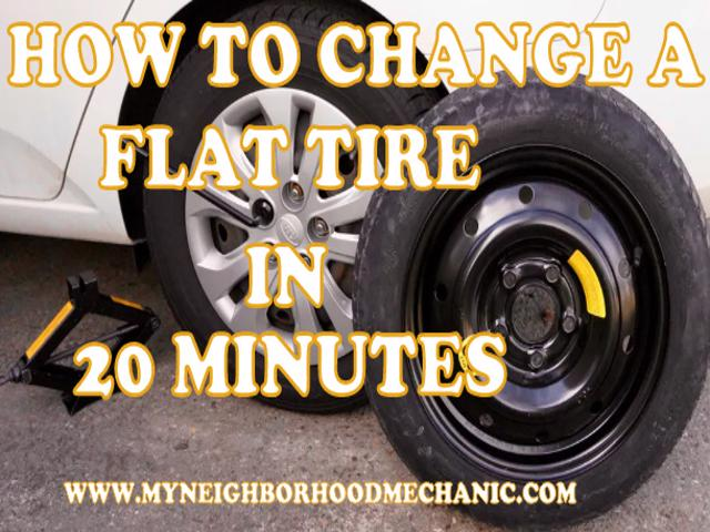 12 Simple Steps to Changing a Flat Tire Under 20 Minutes ...